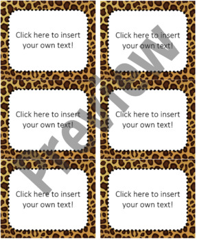 jungle safari editable avery labels 5264 3 1 3 x 4 tpt