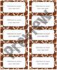 "Jungle/Safari Editable Avery Labels- #8163 (2"" x 4"")"