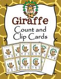 Jungle Safari Giraffes Count and Clip Cards