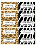 Jungle-Safari Homework Folder and Reading Book Bag Labels