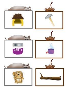 Jungle Safari Literacy Centers: Half-Pint Readers Set 4