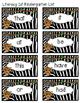 Jungle/Safari/Zoo Literacy First Sight Word Flash Cards