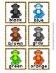 Jungle Safari Monkey Color Clip Cards and Memory Game