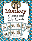 Jungle Safari Monkey Count and Clip Cards