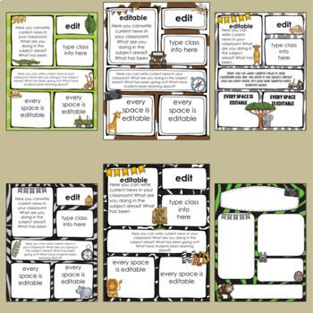 Jungle/Safari Newsletter Templates ~ Editable