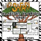 Safari or Jungle Theme Newsletter Templates - Editable