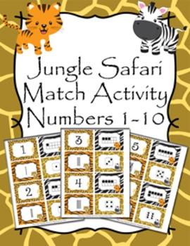 Jungle Safari Number Match Activity