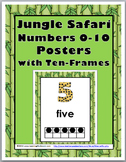 Jungle Safari Theme Classroom Decor Ten Frame Number Posters 0-10