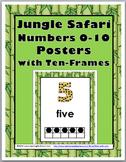 Jungle Safari Theme Classroom Decor Ten Frame Number Posters 0-10