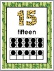 Jungle Safari Themed Numbers 11-20 Number Posters with Ten