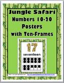 Jungle Safari Theme Classroom Decor Ten Frame Number Posters 11-20