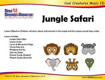Jungle Safari - Song (mp3), Lesson Materials, Printables