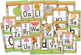 Jungle Safari Striped Themed Alphabet Posters