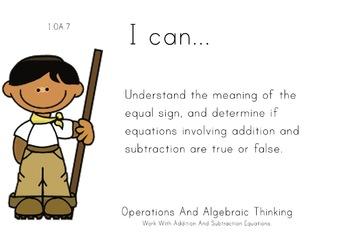 Jungle Safari Theme 1st grade math Common Core Posters first Grade Standards