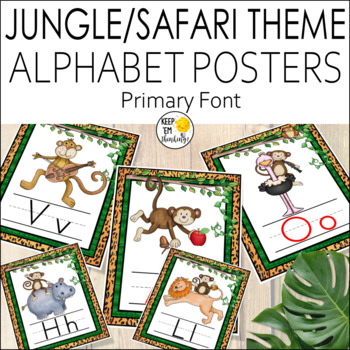 Jungle Alphabet Posters Primary Font - Jungle Theme Classroom Decor