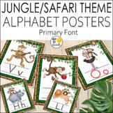 Jungle Alphabet Posters Primary Font - Jungle Theme Classr