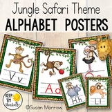 Jungle Alphabet Posters Primary Font - Jungle Theme Classr
