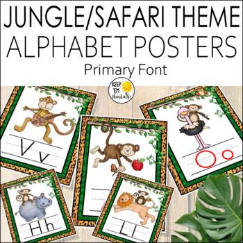 Jungle Theme Alphabet Posters - Jungle Theme Classroom Decor