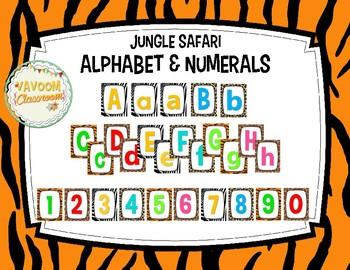 Jungle Safari Theme Alphabet & Numerals Kit