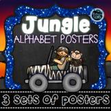 Jungle Safari Theme Alphabet Posters - 3 sets