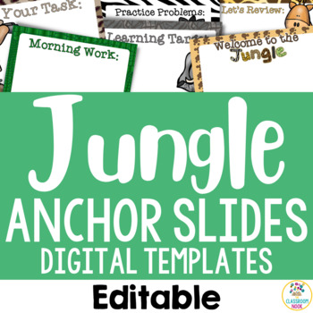 Jungle Safari Theme: Anchor Slide Templates (Editable)