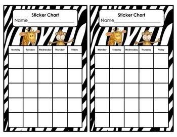Jungle Theme Behavior Chart Editable! Jungle Theme Classroom Decor