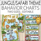 Jungle Theme Behavior Chart Editable! Jungle Theme Classro