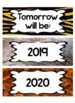 Jungle / Safari Theme Calendar BUNDLE (numbers, months, days of the week)