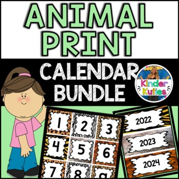 Jungle / Safari Theme Calendar BUNDLE (numbers, months, days of the week)