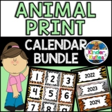Jungle | Safari | Zoo | Animal Print Theme Calendar Pack