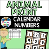 Jungle | Safari | Zoo | Animal Print Theme Calendar Numbers