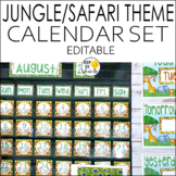 Jungle Theme Calendar Set - Jungle Theme Classroom Decor