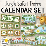 Jungle Theme Calendar Set - Jungle Theme Classroom Decor