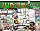 Jungle Safari Theme Classroom Decor Bundle (Behavior Chart, Name Plates, Signs)