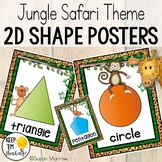 Jungle Theme Shape Posters, Jungle Themed Classroom Decor