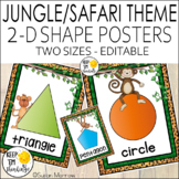 Jungle Theme Shape Posters, Jungle Themed Classroom Decor