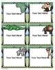 Jungle Safari Theme Classroom Labels Decorations Editable