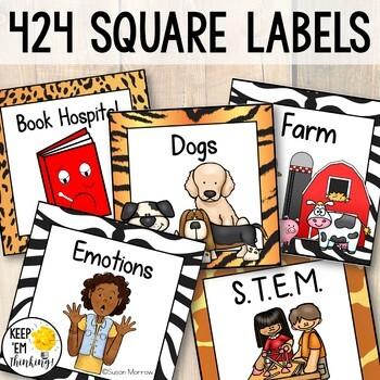 Jungle Theme Book Labels Editable! Jungle Theme Classroom Decor