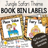 Classroom Library Labels: Book Bin Labels & Matching Book Labels Jungle Theme