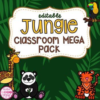 Jungle Safari Classroom Decor MEGA Bundle (editable)