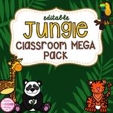 Jungle Safari Theme Classroom Decor (editable)