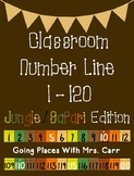 Jungle/Safari Theme Classroom Number Line