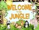 Jungle Safari Theme Classroom Organization: Jobs, Passes, Lunch Count, & Welcome