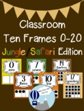 Jungle/Safari Theme Classroom Ten Frames Poster 0-20