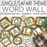 Jungle Theme Word Wall Editable! - Jungle Theme Classroom Decor