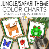 Jungle Theme Color Posters - Jungle Theme Classroom Decor
