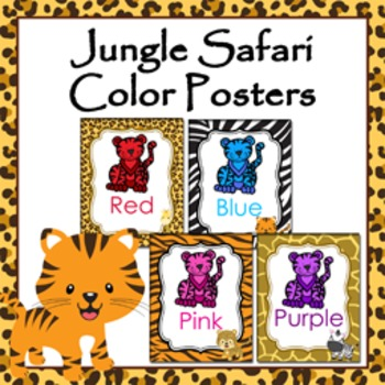 Jungle Safari Theme Color Posters