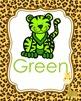 Jungle Safari Theme Color Posters