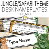 Jungle Theme Name Plates Editable! jungle Themed Classroom Decor