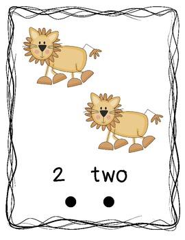 Jungle Safari Theme Number Posters